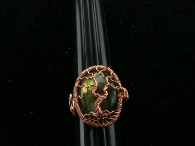 Cabochon Tree of Life Adjustable Ring Wire Wrap Tutorial