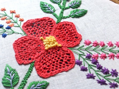 Cut work embroidery tutorial-Hand embroidery.