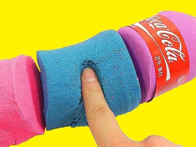 DIY How To Make Coca Cola Bottle Colors Kinetic Sand Recipe Toy | One For You One For Me Rhymes Song