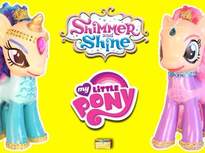 DIY My Little Pony to SHIMMER AND SHINE Genie Ponies | Make Custom Shimmer and Shine MLP Ponies