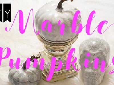 DIY PUMPKINS: Marble