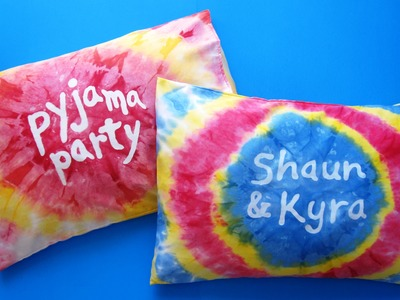 DIY Tie Dye Pillow Case | Personalised Gift Ideas | Pyjama Party | Oreiller Tie-Dye Personnalisé