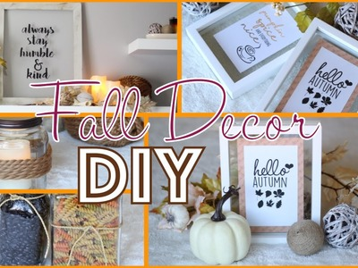 Easy Fall Decor DIY and Transformation - Fall Home Decor Ideas