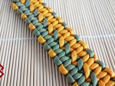 How to Make a Double Wide Solomon Knot Bracelet Tutorial