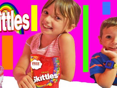 Its Skittles Rainbow Water Experiment Kids How To DIY Candy Rainbow Sweets Boys Girls Fun Video #