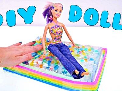 ORBEEZ Rainbow Water Bed * DIY Barbie Doll Furniture * How To Tutorial