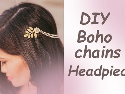 Tutorial Bohemian Chain Hair Comb Vine Leaves DIY Accessory