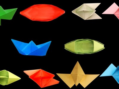 10 Amazing Paper Boats | Different Types Of DIY (Origami) Paper Boats