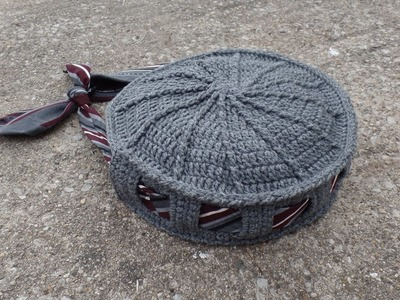 CROCHET How To #Crochet Tie or Belt Handbag Purse TUTORIAL #340