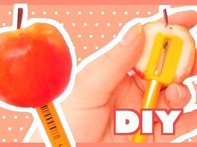 DIY Apple Clay Pencil Sharpener | PPAP Pen Pineapple Apple Pen