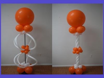 DIY Balloon spiral 260 twist columns   How to make pattern balloon column series Part 4