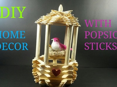 DIY# HOME DECOR WITH POPSICLE STICKS. HOW TO MAKE. CWM# 11