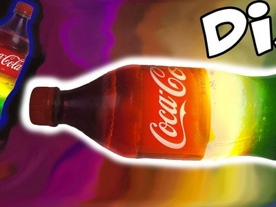 DIY How to Make EDIBLE Gummy Worm Filled Soda Coke Cola Rainbow Jello Bottle Light
