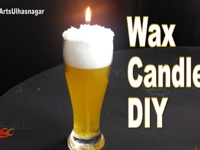 DIY  How to Make Gel Candle | Beer Glass candle Gift Idea | JK Arts 1099