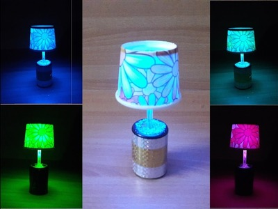 DIY LED table. night lamp with easily available and cheap materials