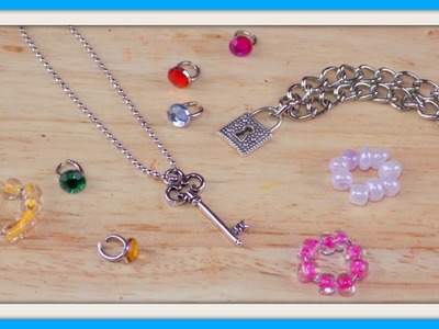 DIY Miniature Doll Jewelry - How to Make Dollhouse, Barbie, MLP, LPS Crafts & Stuff