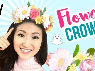 DIY Snapchat Flower Crown!! Cute & Cheap Last Minute DIY Halloween Costumes!