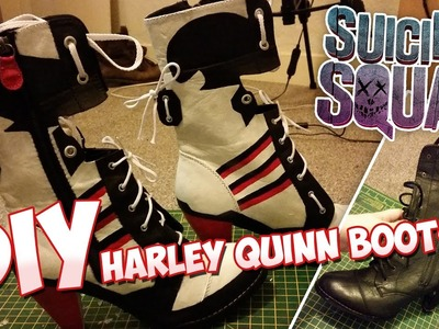 DIY Suicide Squad Harley Quinn Cosplay Boots - Time-Lapse