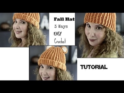 Easy 3 hats in one Crochet Tutorial