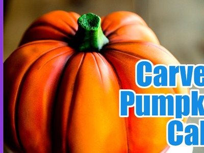 How to Carve and Airbrush a realistic Pumpkin Cake