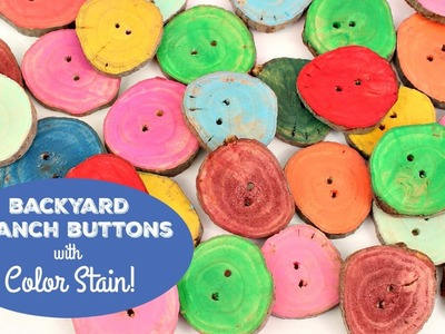 HOW TO: Color Stain Wood Buttons