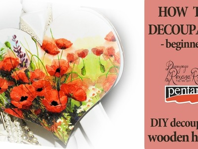 How to decoupage video  Step by step decoupage on wood beginners decoupage diy decoupage