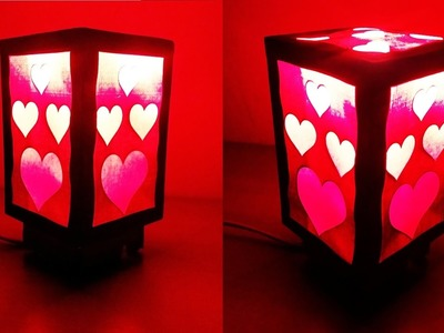 How to Make a Beautiful Love Heart Night Lamp (Home Decorating Craft) : HD