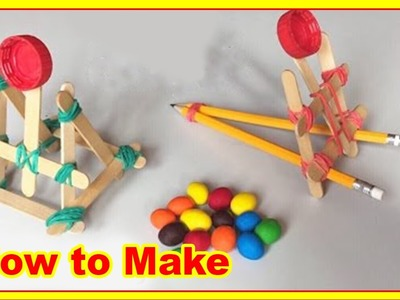 How to make a catapult. 4 easy ways to manufacture a catapult.