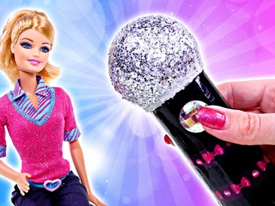 How To Make a Homemade Barbie Doll Microphone | Making DIY Barbie Doll Crafts with DCTC