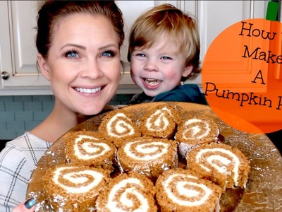 How To Make A Pumpkin Roll!!