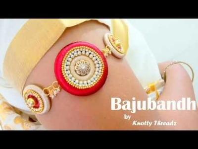 How to make a Silk Thread Bajubandh. Armlet at Home | Tutorial !!