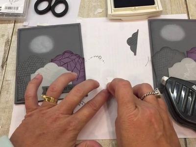 How to make an adorable Goulish Grunge Halloween Card