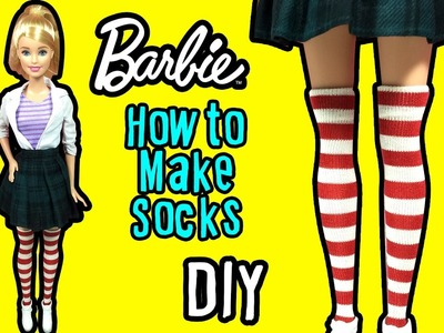 How To Make Barbie Doll Socks - Stockings - DIY Barbie Clothes Tutorial