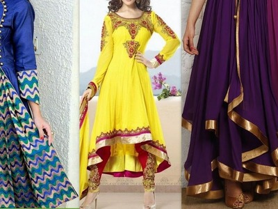 How to make latest anarkali front pleated High-Low dress cutting & stitching