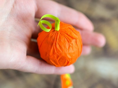 How to Make - Mini Pumpkin Lollipop Halloween Sweets Candy - Step by Step | Lizak Dynia