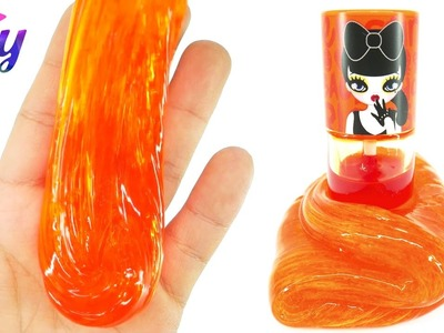 How to make Peripera Peri's Tint Orange Water Tint Slime DIY - Contact Lens Solution Slime