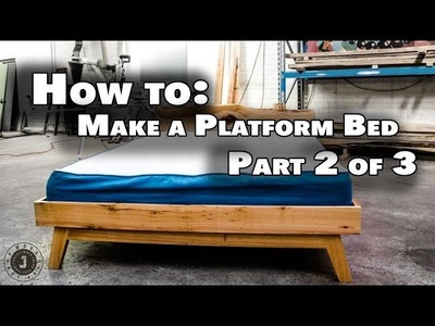 How to make queen size platform bed Part 2 of 3 - Outer Frame and Headboard (JordsWoodShop)