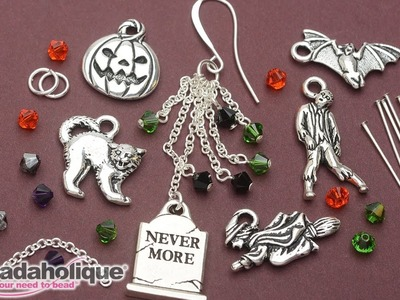 How to Make the Halloween Earrings - An Exclusive Beadaholique Kit