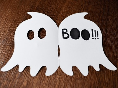 How to Make - Very Easy Card Halloween Ghost - Step by Step DIY | Kartka Duch
