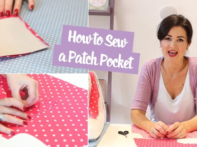 How to Sew a Patch Pocket | Sewing Tutorial