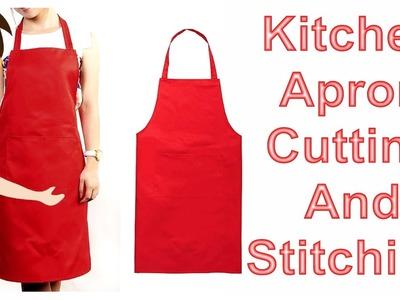 Kitchen Apron Cutting And Stitching   DIY - Tailoring With Usha