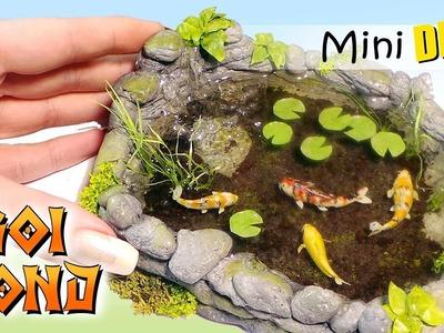Miniature Koi Pond Tutorial. DIY Dolls.Dollhouse