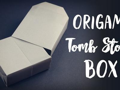 Origami Grave Stone Box ✟ Halloween DIY ✟ Paper Kawaii