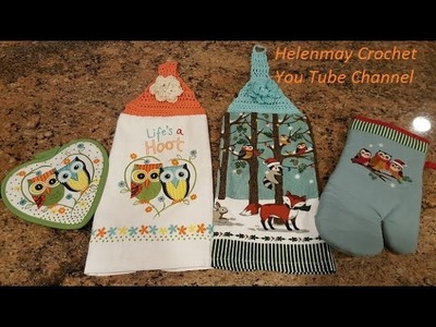 Quick Easy Beginner Life's a Hoot Crochet Kitchen Towel Topper DIY Tutorial