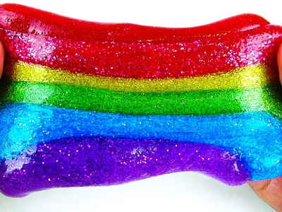 Rainbow Glitter Slime DIY Fun & Easy How to Make Slime - Sparkly Shimmery Slime