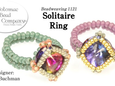 Solitaire Ring (DIY Bead Weaving Tutorial)