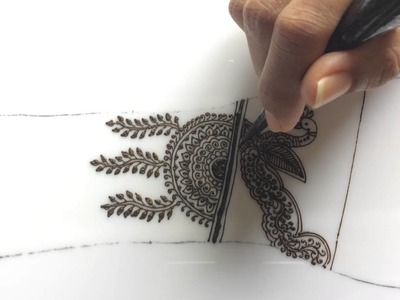 Tutorial 19 : how to draw traditional marwari rajsthani style intricate mehndi