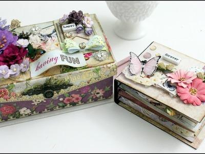 Tutorial | DIY Mini Album inside an altered music box | Aola DIY