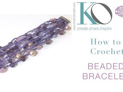 Venus Beaded Crochet Bracelet