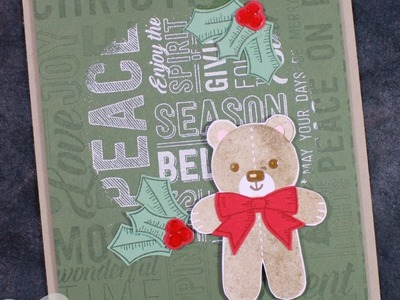 5 Christmas Card Ideas feat. Merry Medley Background Stamp